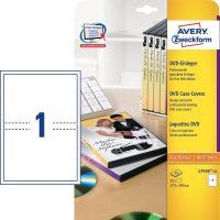 Avery Zweckform No. L7436-25 univerzális 273 x 183 mm méretű, DVD tok betét mikroperforált élekkel A4-es íven - 25 DVD tok betét / csomag - 25 ív / csomag (Avery L7436-25)