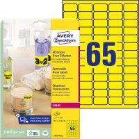 Avery Zweckform L7651Y-25 neon színű nyomtatható öntapadós etikett címke