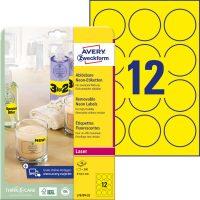 Avery Zweckform L7670Y-25 kör alakú nyomtatható öntapadós etikett címke