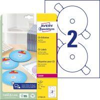 Avery Zweckform L7760-25 SuperSize nyomtatható öntapadós CD címke