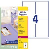Avery Zweckform L7769-40 nyomtatható fényes felületű öntapadós etikett címke
