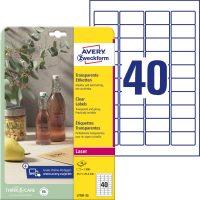 Avery Zweckform L7781-25 nyomtatható öntapadós víztiszta átlátszó termék címke
