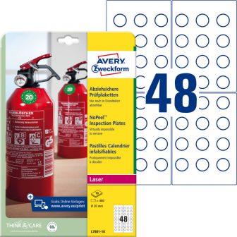 Avery Zweckform L7801-10 nyomtatható öntapadós eltávolíthatatlan felülvizsgálati címke