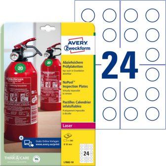 Avery Zweckform L7802-10 nyomtatható öntapadós eltávolíthatatlan felülvizsgálati címke