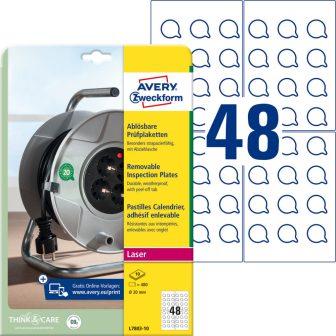 Avery Zweckform L7803-10 nyomtatható öntapadós visszaszedhető felülvizsgálati címke
