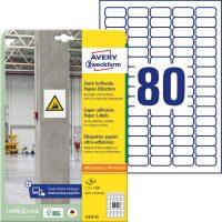 Avery Zweckform L7872-20 erősebben tapadó nyomtatható öntapadós etikett címke