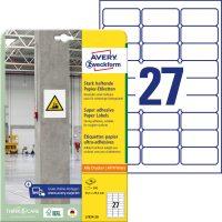 Avery Zweckform L7874-20 erősebben tapadó nyomtatható öntapadós etikett címke