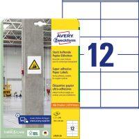 Avery Zweckform L7875-20 erősebben tapadó nyomtatható öntapadós etikett címke