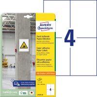 Avery Zweckform L7876-20 erősebben tapadó nyomtatható öntapadós etikett címke