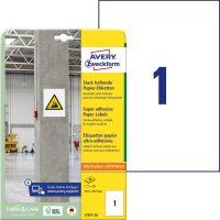 Avery Zweckform L7877-20 erősebben tapadó nyomtatható öntapadós etikett címke