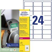 Avery Zweckform L7912-40 nyomtatható öntapadós ultra ellenálló etikett címke