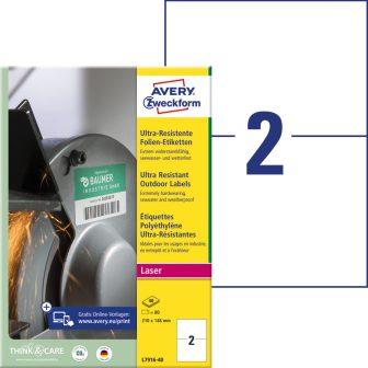 Avery Zweckform L7916-40 nyomtatható öntapadós ultra ellenálló etikett címke