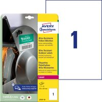 Avery Zweckform No. L7917-10 lézeres 210 x 297 mm méretű, fehér ultra ellenálló öntapadó etikett címke, tartós ragasztóval A4-es íven - 10 címke / csomag - 10 ív / csomag (Avery L7917-10)