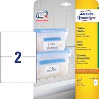 Avery Zweckform No. L7974-25 univerzális 210 x 148 mm méretű, fehér öntapadó etikett címke fagyasztott termékek jelölésére A4-es íven - 50 címke / csomag - 25 ív / csomag (Avery L7974-25)