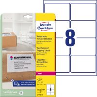 Avery Zweckform L7993-25 nyomtatható öntapadós időjárásálló csomag címke