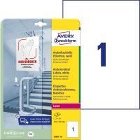 Avery Zweckform L8001-10 nyomtatható öntapadós antimikrobiális etikett címke