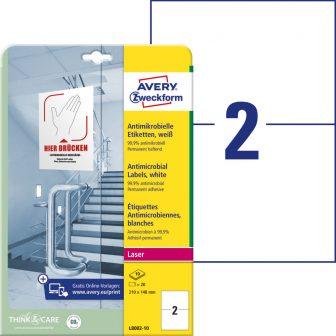 Avery Zweckform L8002-10 nyomtatható öntapadós antimikrobiális etikett címke