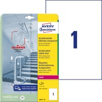 Avery Zweckform L8011-10 nyomtatható öntapadós antimikrobiális etikett címke