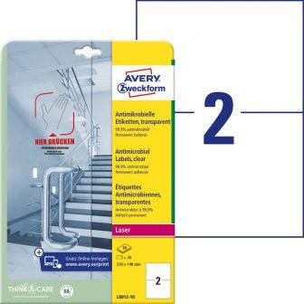 Avery Zweckform L8012-10 nyomtatható öntapadós antimikrobiális etikett címke