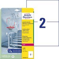 Avery Zweckform L8012REV-10 nyomtatható öntapadós antimikrobiális etikett címke
