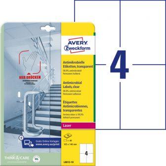 Avery Zweckform L8013-10 nyomtatható öntapadós antimikrobiális etikett címke