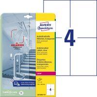 Avery Zweckform L8013REV-10 nyomtatható öntapadós antimikrobiális etikett címke