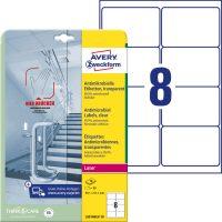 Avery Zweckform L8014REV-10 nyomtatható öntapadós antimikrobiális etikett címke