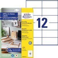 Avery Zweckform LR3424-10 nyomtatható környezetbarát öntapadós etikett címke