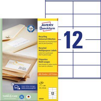 Avery Zweckform LR3424 nyomtatható környezetbarát öntapadós etikett címke