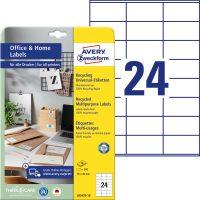 Avery Zweckform LR3475-10 nyomtatható környezetbarát öntapadós etikett címke