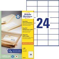 Avery Zweckform LR3475 nyomtatható környezetbarát öntapadós etikett címke