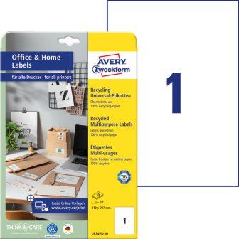 Avery Zweckform LR3478-10 nyomtatható környezetbarát öntapadós etikett címke