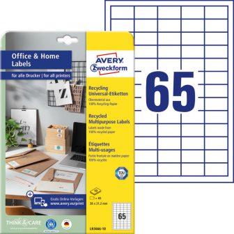 Avery Zweckform LR3666-10 nyomtatható környezetbarát öntapadós etikett címke