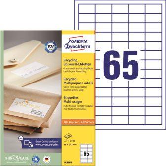 Avery Zweckform LR3666 nyomtatható környezetbarát öntapadós etikett címke