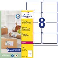 Avery Zweckform LR7165-100 nyomtatható környezetbarát öntapadós csomag címke