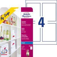 Avery Zweckform My Design MD4001 boros címke tintasugaras nyomtatókhoz - 20 címke / csomag (Avery MD4001)