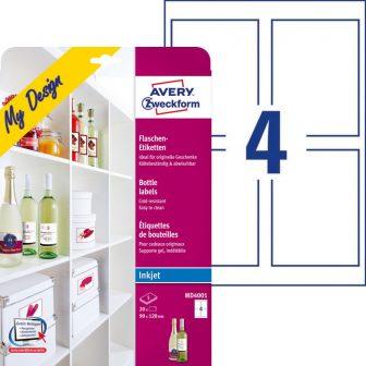 Avery Zweckform MD4001 fényes felületű nyomtatható öntapadós borosüveg címke
